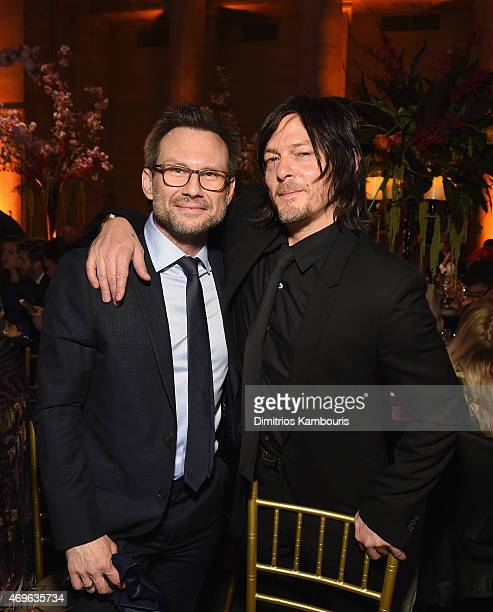 Actors Christian Slater and Norman Reedus attend the 7th Annual Blossom Ball benefiting The Endometriosis Foundation Of America hosted by EFA...