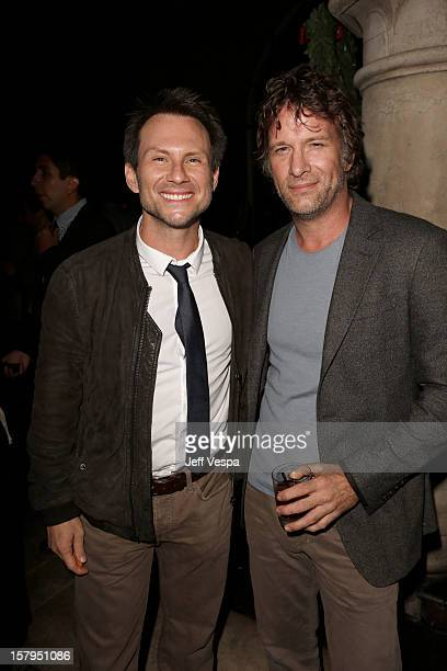 Actors Christian Slater and Thomas Jane attend the SILVER LININGS PLAYBOOK Event Hosted By Lexus And Purity Vodka at Chateau Marmont on December 7...