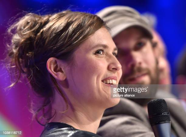 Actors Christian Ulmen and Emily Cox at the republica 2017 internet conference in Berlin Germany 10 May 2017 The conference's slogan this year is...