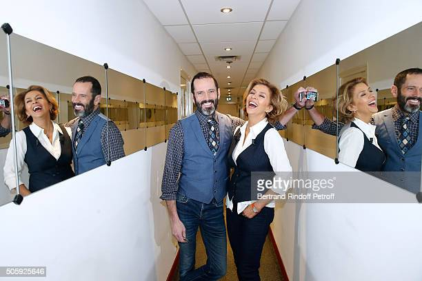 Actors Christian Vadim and Corinne Touzet present the Theater play 'Un nouveau depart', performed at Theatre des Varietes', during the 'Vivement...