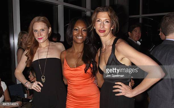 Actors Christiane Seidel Nichole Galicia and Alysia Reiner attend Magnolia Pictures with The Cinema Society screening of 'Filth' after party at Jimmy...