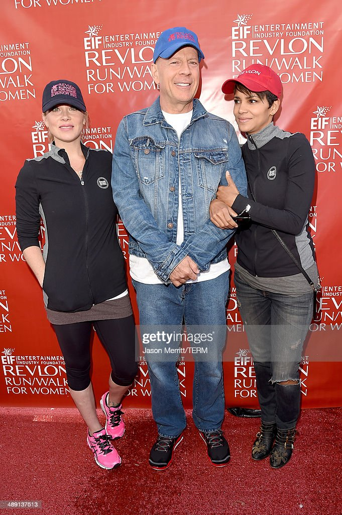 Actors Christina Applegate, Bruce Willis and Halle Berry attend the 21st Annual EIF Revlon Run Walk For Women on May 10, 2014 in Los Angeles, California.