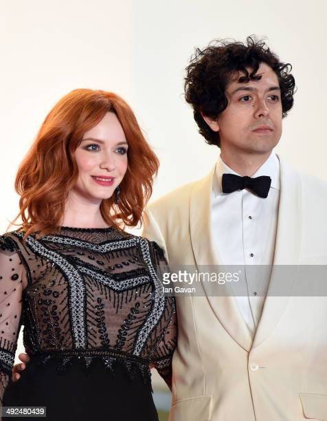 Actors Christina Hendricks and Geoffrey Arend attend the Lost River premiere during the 67th Annual Cannes Film Festival on May 20 2014 in Cannes...