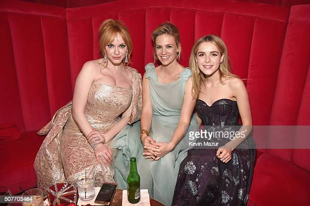 Actors Christina Hendricks January Jones and Kiernan Shipka attend People and EIF's Annual Screen Actors Guild Awards Gala at The Shrine Auditorium...