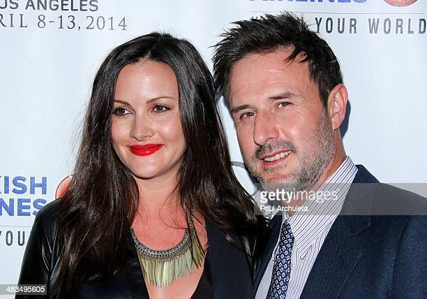 Actors Christina McLarty and David Arquette attend the Indian Film Festival of Los Angeles opening night gala at ArcLight Cinemas on April 8 2014 in...