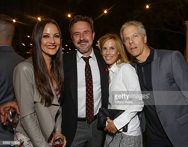Actors Christina McLarty David Arquette Martha German and Greg Germann attend the Vintage Hollywood Wine Food Tasting for the Ocean Park Community...