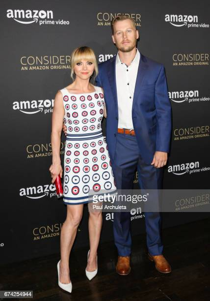 Actors Christina Ricci and David Hoflin attend the Emmy FYC screening for Amazon's Z The Beginning Of Everything at Hollywood Athletic Club on April...