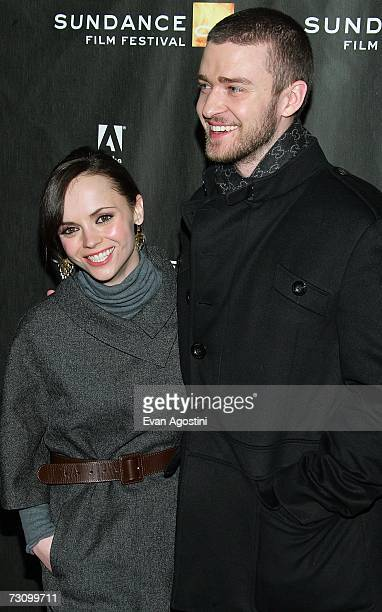 Actors Christina Ricci and Justin Timberlake arrive for the Black Snake Moan premiere at the Eccles Theater during the 2007 Sundance Film Festival on...