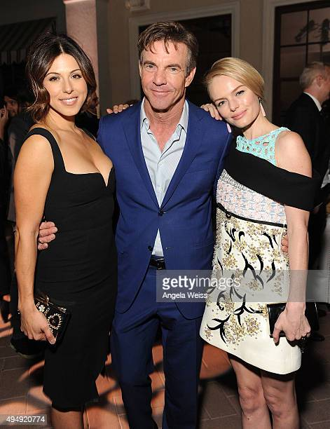 Actors Christina Rosato Dennis Quaid and Kate Bosworth attend the premiere of Crackle's The Art of More after party at Sony Pictures Studios on...