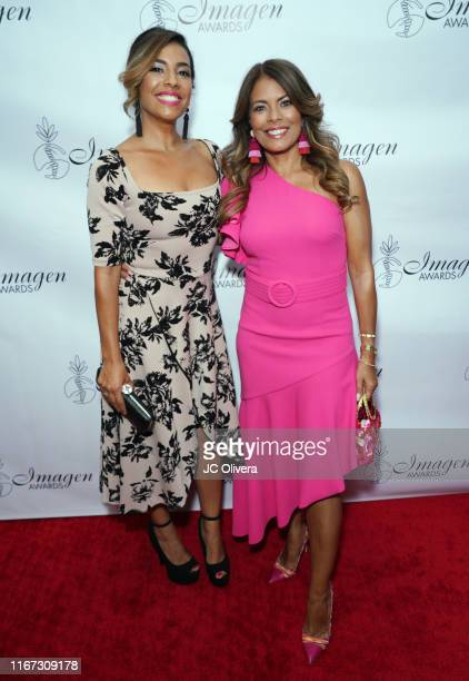 Actors Christina Vidal and Lisa Vidal attend the 34th Annual Imagen Awards at the Beverly Wilshire Four Seasons Hotel on August 10 2019 in Beverly...