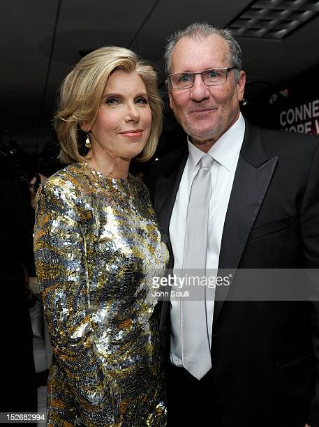 Actors Christine Baranski and Ed O'Neill attend the Presenters Gift Lounge Backstage in celebration of the 64th Primetime Emmy Awards produced by On...
