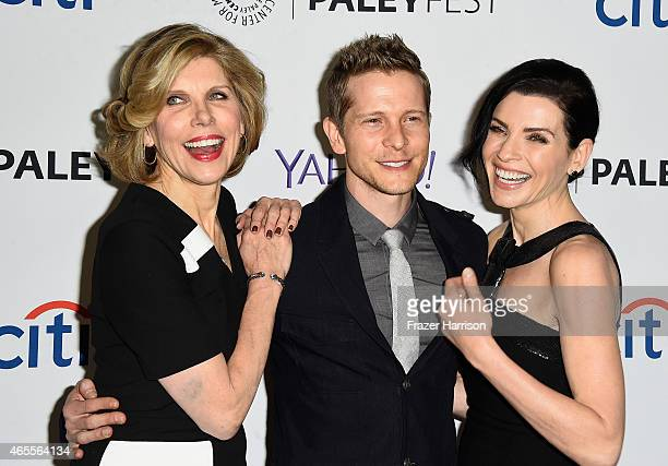Actors Christine Baranski Julianna Margullies and Matt Czuchry arrive at The Paley Center For Media's 32nd Annual PALEYFEST LA 'The Good Wife' at...