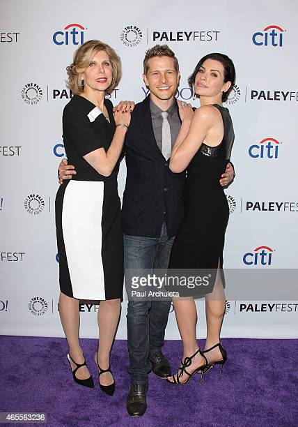 Actors Christine Baranski Matt Czuchry and Julianna Marguliess attend the 32nd annual PALEYFEST LA featuring 'The Good Wife' presented by the Paley...