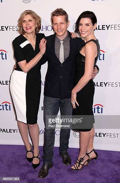 Actors Christine Baranski Matt Czurchry and Julianna Margulies attend The Paley Center For Media's 32nd Annual PALEYFEST LA 'The Good Wife' at Dolby...