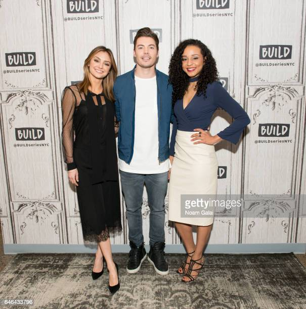 Actors Christine Evangelista Josh Henderson and Carra Patterson visit Build Series to discuss 'The Arrangement' at Build Studio on February 28 2017...