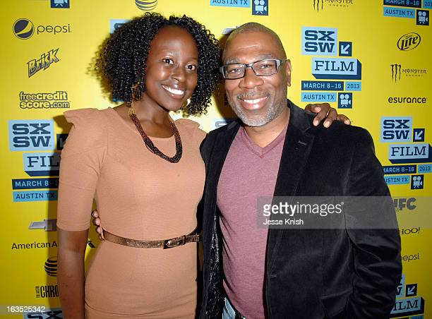 Actors Christine Horn and Alfonso Freeman poses for a portrait at 'The Retrieval' Photo Op during the 2013 SXSW Music Film Interactive Festival at...