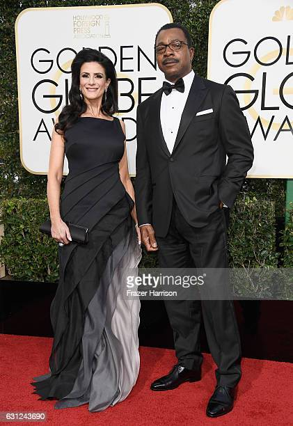 Actors Christine Kludjian and Carl Weathers attend the 74th Annual Golden Globe Awards at The Beverly Hilton Hotel on January 8 2017 in Beverly Hills...