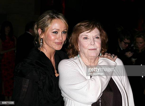 Actors Christine Taylor and Anne Meara attend the 24th Annual Museum of the Moving Image's salute to Ben Stiller at Cipriani on 42nd Street on...