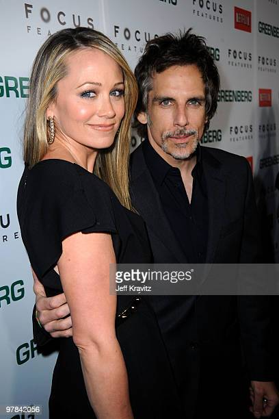 Actors Christine Taylor and Ben Stiller arrive at the premiere of Greenberg presented by Focus Features at ArcLight Hollywood on March 18 2010 in...