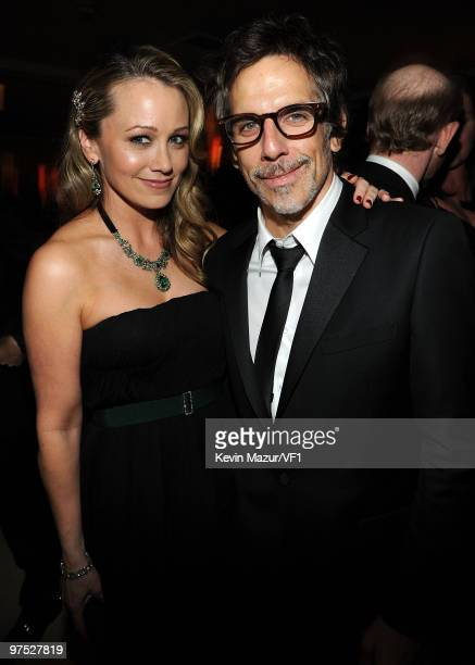 Actors Christine Taylor and Ben Stiller attend the 2010 Vanity Fair Oscar Party hosted by Graydon Carter at the Sunset Tower Hotel on March 7, 2010...