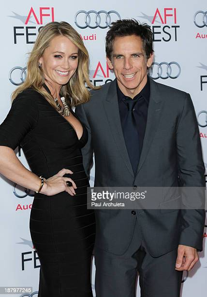 """Actors Christine Taylor and Ben Stiller attend """"The Secret Life Of Walter Mitty"""" premiere at AFI FEST 2013 at TCL Chinese Theatre on November 13,..."""