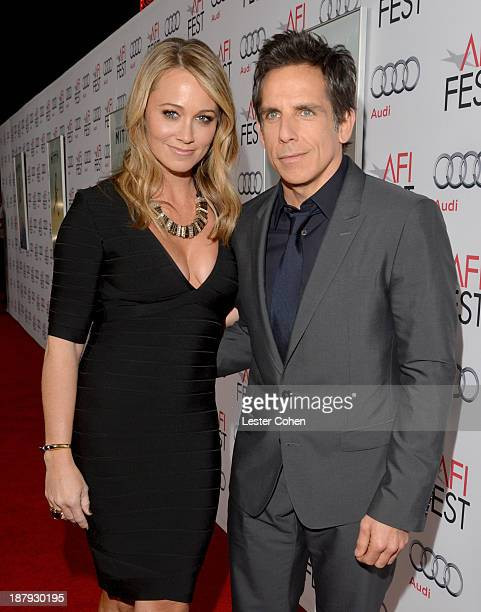 Actors Christine Taylor and Ben Stiller attend the 'The Secret Life Of Walter Mitty' premiere during AFI FEST 2013 presented by Audi at TCL Chinese...