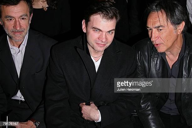 R actors Christophe Malavoy Clovis Cornillac and Richard Berry attend the Emanuel Ungaro Paris Menswear Fashion week Autumn/Winter 2008/2009 Ready to...