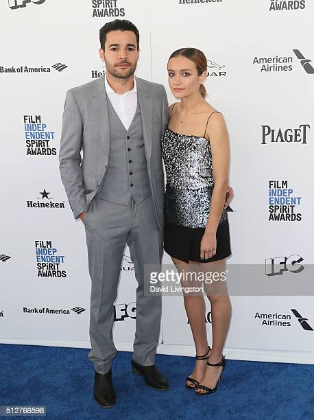 Actors Christopher Abbott and Olivia Cooke attend 2016 Film Independent Spirit Awards on February 27 2016 in Santa Monica California