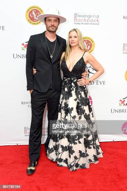 Actors Christopher Backus and Mira Sorvino attend the Unbridled Eve Gala during the 144th Kentucky Derby at Galt House Hotel Suites on May 4 2018 in...