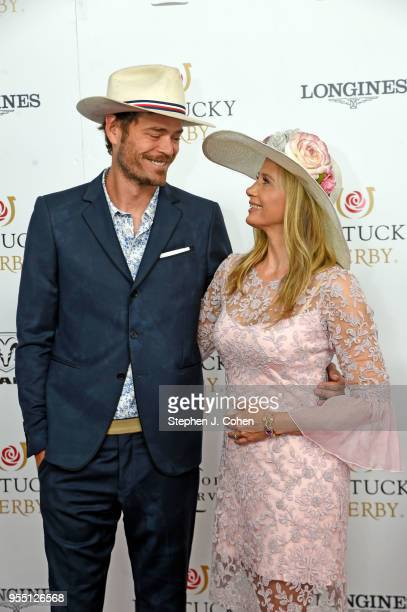 Actors Christopher Backus and Mira Sorvino attends The 144th Annual Kentucky Derby at Churchill Downs on May 5 2018 in Louisville Kentucky
