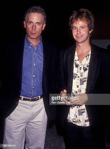 Actors Christopher Guest and Dana Carvey attend the screening of 'MortonHayes' on July 22 1991 at the Academy Theater in Beverly Hills California