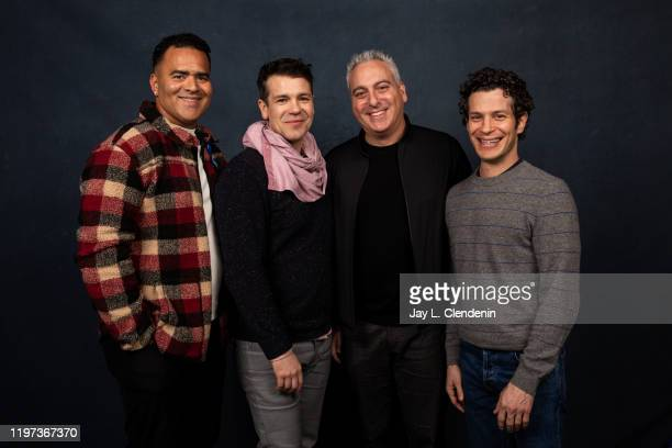 Actors Christopher Jackson Anthony Veneziale director Andrew Fried and producer/subject Thomas Kail from 'We Are Freestyle Love Supreme' are...