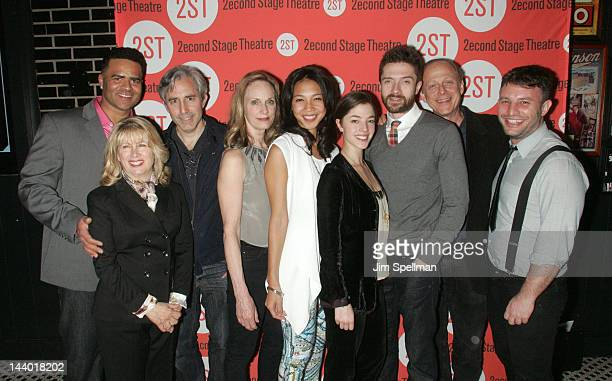 Actors Christopher Jackson Paul Weitz Lisa Emery Maureen Sebastian Olivia Thirlby Topher Grace Mark Blum and director Trip Cullman attend the Lonely...