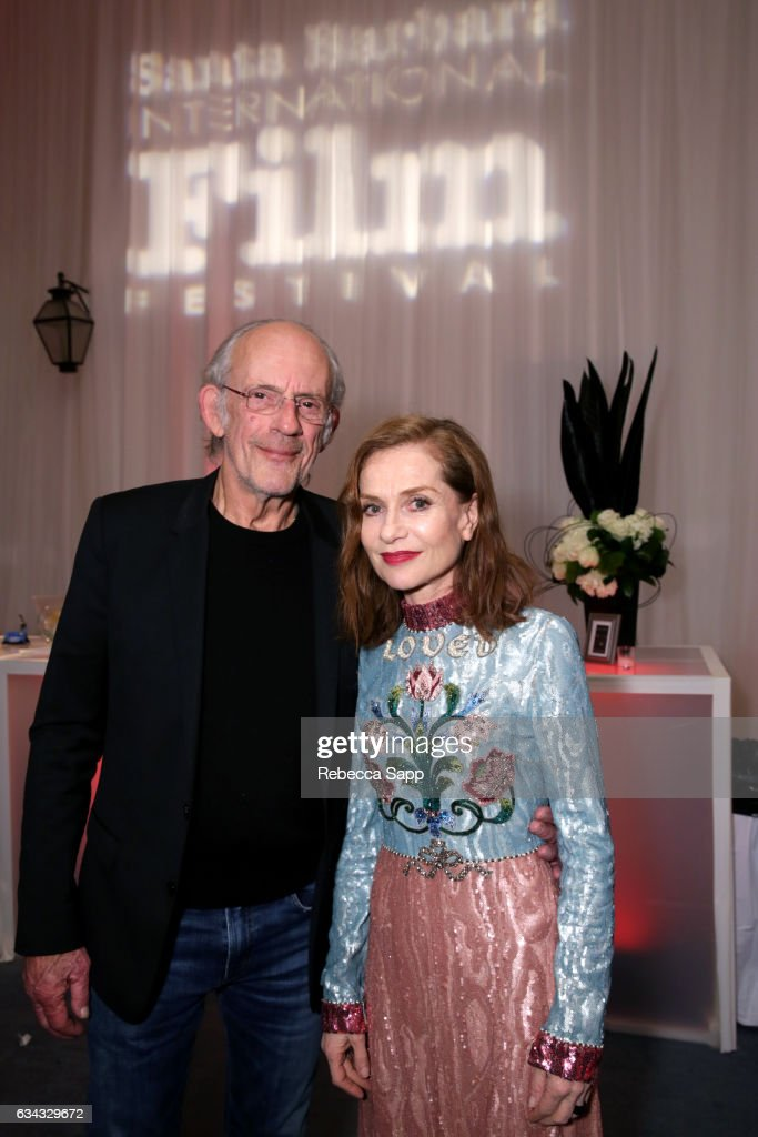 Actors Christopher Lloyd and Isabelle Huppert attend the afterparty at the Montecito Award during the 32nd Santa Barbara International Film Festival at the Arlington Theatre on February 8, 2017 in Santa Barbara, California.
