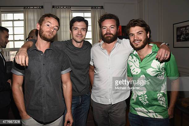 Actors Christopher Masterson Topher Grace Danny Masterson and Emile Hirsch attend an introduction to HEAVEN 2016 presented by The Art of Elysium and...