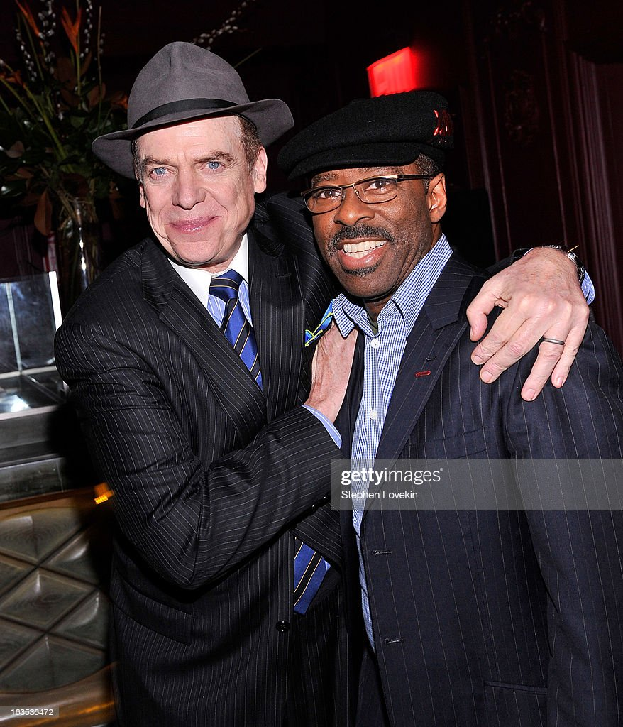 Actors Christopher McDonald and Courtney B. Vance attend the after party for The Cinema Society with Roger Dubuis and Grey Goose screening of FilmDistrict's 'Olympus Has Fallen' at The Darby on March 11, 2013 in New York City.