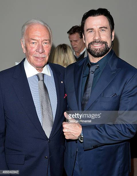 Actors Christopher Plummer and John Travolta attend 'The Forger' premiere during the 2014 Toronto International Film Festival at Roy Thomson Hall on...