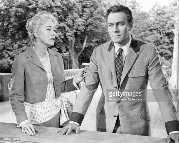 Actors Christopher Plummer as Captain Von Trapp and Eleanor Parker as The Baroness in the musical film 'The Sound of Music' 1965