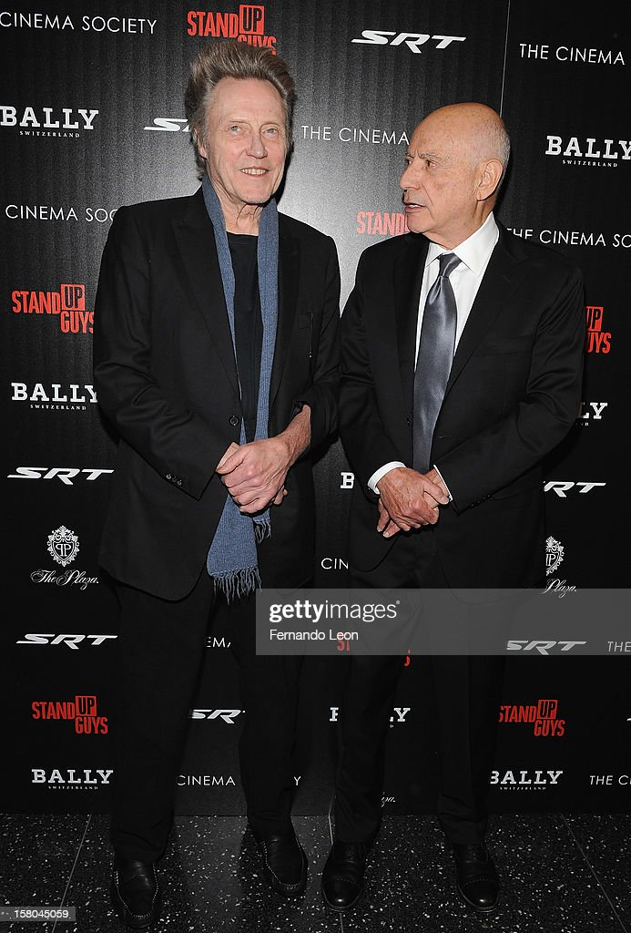 Actors Christopher Walken and Alan Arkin (R) attend the premiere of 'Stand Up Guys' hosted by The Cinema Society with Chrysler and Bally at MOMA on December 9, 2012 in New York City.
