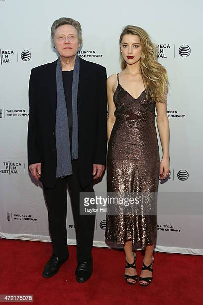 Actors Christopher Walken and Amber Heard attend the world premiere of 'When I Live my Life Over Again' at the 2015 Tribeca Film Festival at SVA...