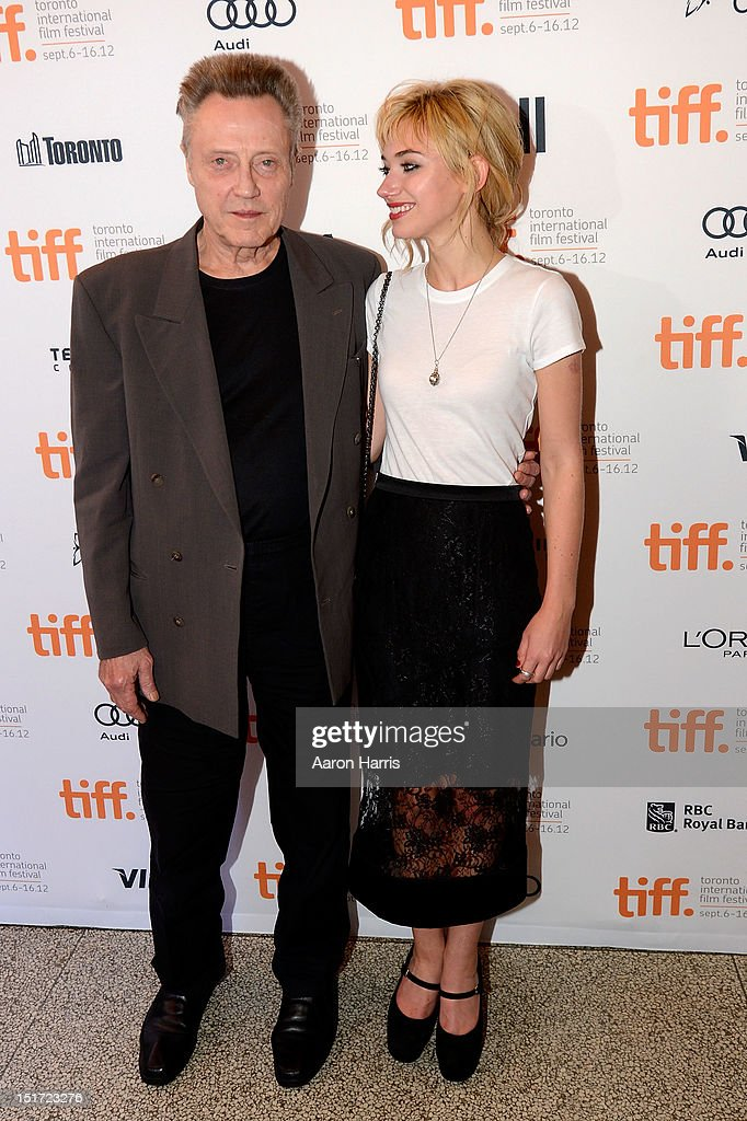Actors Christopher Walken (L) and Imogen Poots attend the 'A Late Quartet' Premiere at the 2012 Toronto International Film Festival at The Elgin on September 10, 2012 in Toronto, Canada.