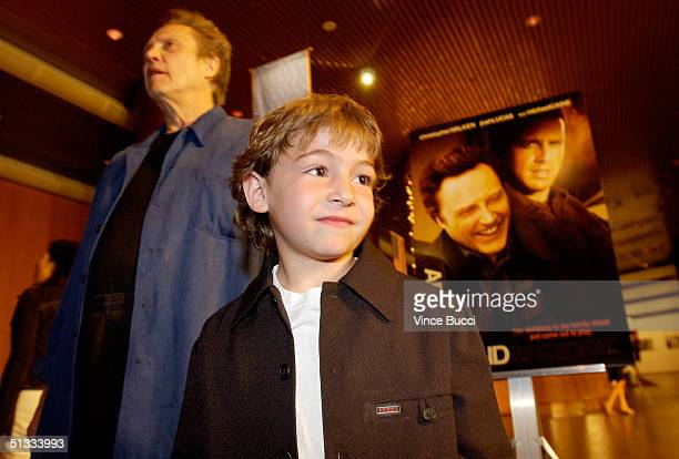 Actors Christopher Walken and Jonah Bobo attend the premiere of Warner Bros Around the Bend at the DGA on September 21 2004 in Hollywood California