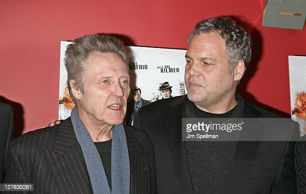 Actors Christopher Walken and Vincent D'Onofrio attends the premiere of 'Kill the Irishman' at Landmark's Sunshine Cinema on March 7 2011 in New York...
