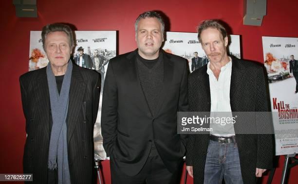 Actors Christopher Walken Vincent D'Onofrio and Director Jonathan Hensleigh attend the premiere of Kill the Irishman at Landmark's Sunshine Cinema on...