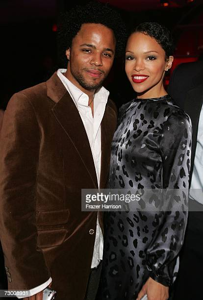 Actors Christopher Warren and Brook Kerr attend the NBC/Universal Golden Globe After Party held at the Beverly Hilton on January 15 2007 in Beverly...
