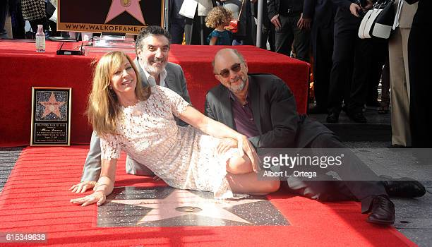 Actors Chuck Lorre Allison Janney and Richard Schiff at the Star ceremony held On The Hollywood Walk Of Fame on October 17 2016 in Hollywood...