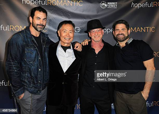 Actors Chuck Saculla George Takei director Benjamin Pollack and Matt Zarley arrive for the Special Screening of Matt Zarley's hopefulROMANTIC With...