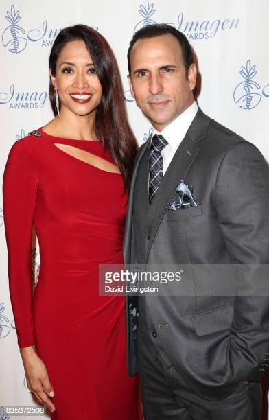 Actors Chuti Tiu and Oscar Torre attend the 32nd Annual Imagen Awards at the Beverly Wilshire Four Seasons Hotel on August 18 2017 in Beverly Hills...