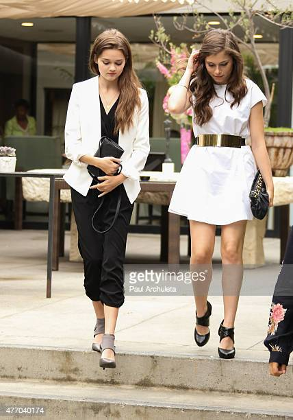 Actors Ciara Bravo and Kennedy Tucker attend the LadyLike Foundation's 7th Annual Women Of Excellence Scholarship luncheon at Luxe Hotel on June 13...