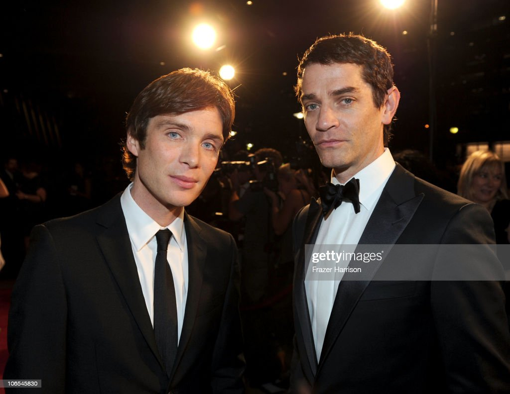 Actors Cillian Murphy and James Frain arrive at the BAFTA Los Angeles 2010 Britannia Awards held at the Hyatt Regency Century Plaza on November 4, 2010 in Century City, California. The BAFTA Los Angeles 2010 Brittania Awards will be aired on the TV Guide Channel on November 7th, 2010.